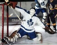 NHL 1970's Goalie Jacques Plante Toronto Maple Leafs Game Action  8 x 10 Photo