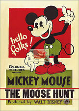 Reprint Picture of a walt disney comic Mickey Mouse Moose Hunt 1931 5x7