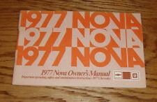 1977 Chevrolet Nova Owners Operators Manual 77 Chevy