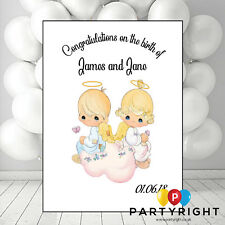 Personalised New Baby Congratulations Twins Date Card