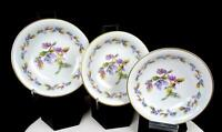 "NORITAKE JAPAN #5173 OAKWOOD BLUE ACORNS 3PC 5 1 /2"" FRUIT DESSERT BOWLS 1950-52"