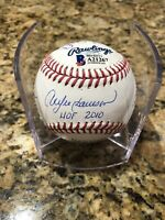 Sandberg Dawson Williams Smith Jenkins Signed Official MLB HOF Baseball Cubs BAS