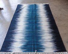 Hand-Woven Geometric 5X8ft Kilim Modern Oriental Area Rug Wool Area Rug Carpet
