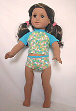 Butterfly Rashguard Swimsuit Fits 18 inch American Girl Dolls