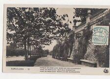 Barcelona Parque de Monjuich Muro de Los Algarrobos 1935 RP Postcard Spain 303a