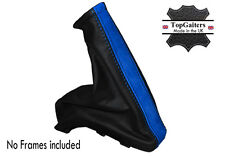 BLUE SUEDE BLACK LEATHER FITS HOLDEN ASTRA 1998-2005 HANDBRAKE COVER BOOT