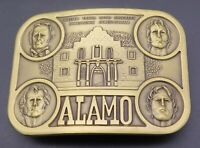 Alamo San Antonio Travis David Crockett James Bowie Bonham Vintage Belt Buckle