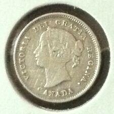 Canada 5 Cents Silver KM 2 XF 1893