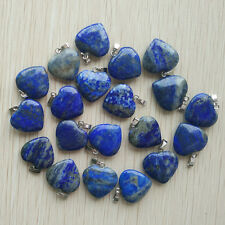 Natural lapis lazuli love heart charms Pendants 24pcs/lot Wholesale