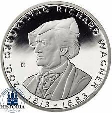 Deutschland 10 Euro Richard Wagner Silber Gedenkmünze 2013 Spiegelglanz