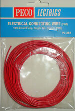Peco PL-38R Electrical Connecting Wire Red 3 Amp 16 Strand