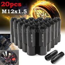20Pcs Billet Aluminum M12X1.5 60mm Extended Tuner Racing Lug Nuts Wheels Rims