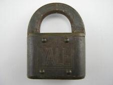 Vintage YALE & TOWNE PADLOCK, STAMFORD, CT Steel & Bronze Security Lock - No Key