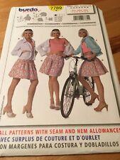 Burda EASY 7789 Casual Wardrobe Pattern Hoodie Skirt Crop Top Sizes 8 thru 20 UC