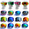Cool Skiing Snowboard Goggles Double Mirror Lens Anti-fog UV Adults Ski Goggles