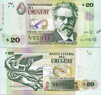 Uruguay 20 Pesos , 2015 , UNC- , P-93 , Serie -G-