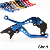 Short Anodized Brake Clutch Levers For Yamaha MT125 (2014-2015) /black/blue