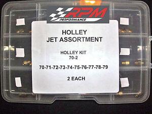Holley Jet Kit Assortment Carb Carburetor GAS MAIN 70-79 2 EACH 20 PACK 70-2