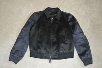 Burberry Prorsum Black/Navy Silk Bomber Coat Jacket Size 52 Mens Small Medium M