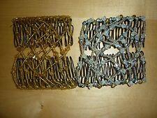 2 Haarspangen Trachtenkämme Hochsteckfrisuren silber gold OVP