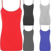 Kids Girls Plain Strappy Bodycon Cami Vest Tank Top Sleeveless Camisole Children