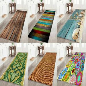 Wood Pebbles Grain Kitchen Floor Mat Non-slip Living Room Door Rugs Area Rug