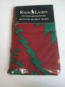 Rare Vintage Ralph Lauren COPPER MOUNTAIN Southwestern 2 Standard Pillowcases