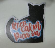 New ListingCat's Meow Village New Sticker Decal Black Keep Calm Purr On Pet Kitty Casper