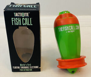Tactibite Fish Call Green & Orange Floating Throwable Electronic Fish Attractor