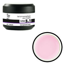 Gel PRO 3.1  UV Monophase pour ongle - transparent rosé  - Peggy sage - 146635