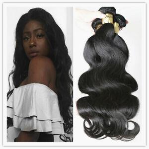 16+18+20 Inch body wave bundles hair virgin peruvian hair extension human weave