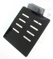 Kennzeichenplatte schwarz für seitliche Kennzeichenhalter - inkl. Beleuchtung