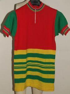 Shirt Bike Shirt Maillot Cycling Heroic Vintage 70'S 50% Knitting Wool