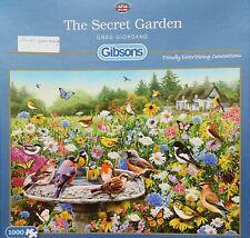 GIBSON, 1000 pce puzzle. THE SECRET GARDEN, 1 pce missing, see description.