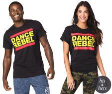 ZUMBA T-SHIRT TOP - ZUMBA DANCE REBEL TOP - BLACK- XS/S - BNWT