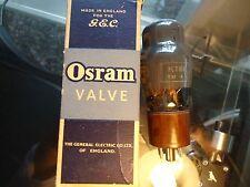 GEC OSRAM KT61 NOS BRITISH NEW OLD STOCK AVO TESTED BOXED VINTAGE VALVE TUBE