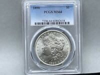 1890-P PCGS MS 64 Morgan Silver Dollar! Premium Coin Nice Strike and luster!