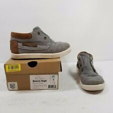 Sperry Bimini High Grey/White Toddler Sz 9