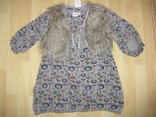 Girls Aged 4 Years Grey Dress & Waistcoat by Phister & Philina