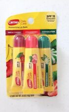 X3 Carmex Daily Care Tubes Fresh Cherry, Strawberry and Wintergreen Spf 15
