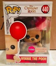 Funko POP! Disney Christopher Robin Winnie the Pooh #440 Flocked Box Lunch. Mint