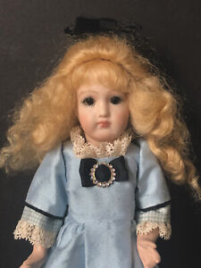 """Miniature 8"""" Reproduction of French/German Doll Porcelain Head Real Seeley Body"""