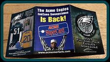 2007 PHILADELPHIA EAGLES ACME FOOTBALL POCKET SCHEDULE NMMT CONDITION