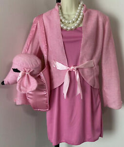 Poshatively Pink Costume First Lady Lawyer Legally Blonde Purse Tote Bag Poodle