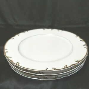 Vintage Premier Plates Fine China Marlboro H9067White/Platinum Preowned Lot of 4