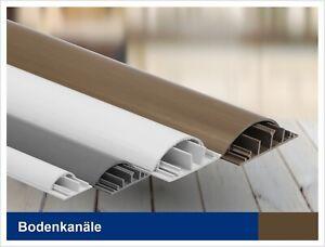 BodenKabelkanal SELBSTKLEBEND / Halbrund / Fussboden Wand Kabelbrücke / 2m