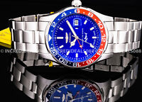 Invicta PRO DIVER SWISS MADE Quartz GMT Blue Dial Silver Bracelet 44mm Men Watch