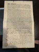 7/21/1814 DEED Duke of Cumberland Viscount of Newark 67 Acres Ontario County NY