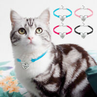 Cute Cats Dogs Collars With Heart Pendant Pet Accessories Puppy Necklace Decor