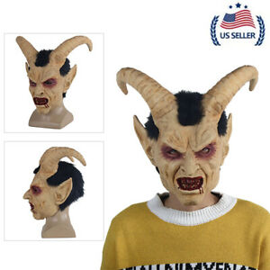 Halloween Scary mask demon devil Lucifer Horn latex Masks Party Horrible Masks